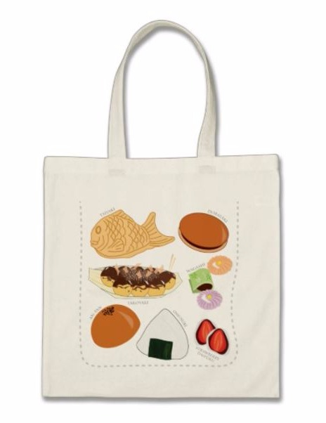 Japanese Snacks Tote Bag