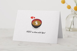 MISO in love with you -Greeting Card