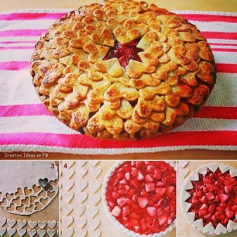 Pie with HEART crust
