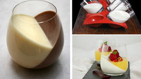 Tilted Dessert: Pudding/Yogurt/Jello/Gelee/Panna Cotta