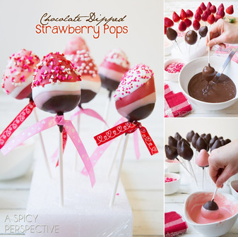 Chocolate Dipped Strawberry Pops
