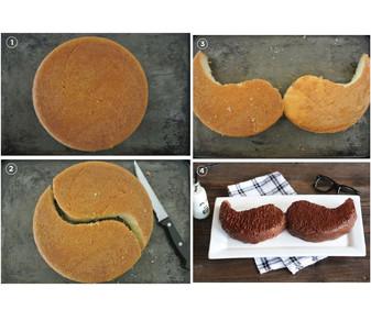 Mustache Cake HOW?