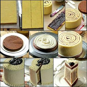 How to make Striped Cake