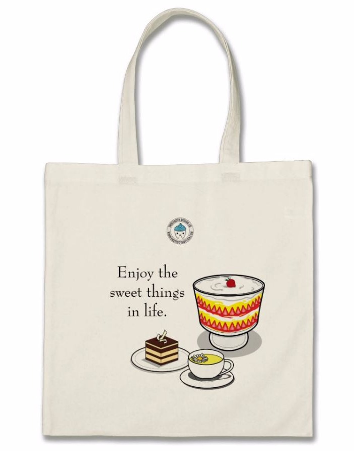 """Enjoy sweet things in life"" Totebag"
