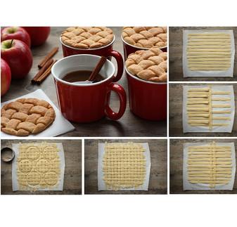 Fancy Pie Dough Lattice Cookies