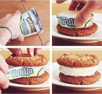 Perfect way to make an Ice-cream Sandwich