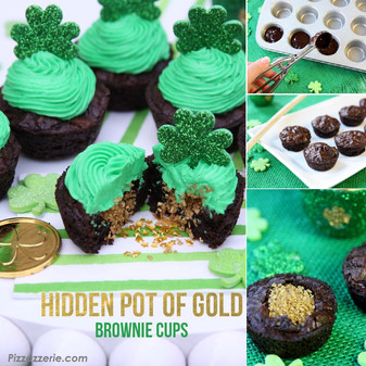 St. Patrick's Day Cupcake with Hidden Gold