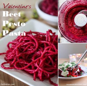 Valentine's Beet Pesto Pasta