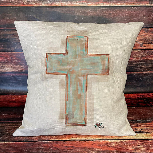 pastel cross pillow