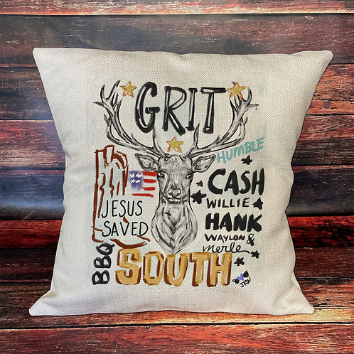 Grit 16x16 pillow