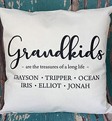 Custom grandkids pillow