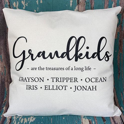 Custom grandkids pillow