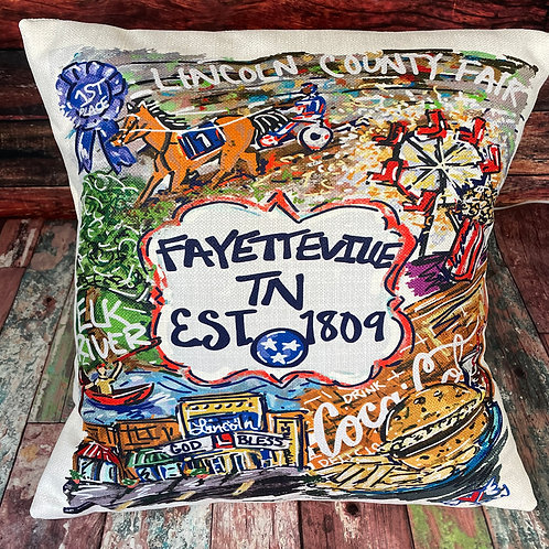 Fayetteville Est 1809 pillow