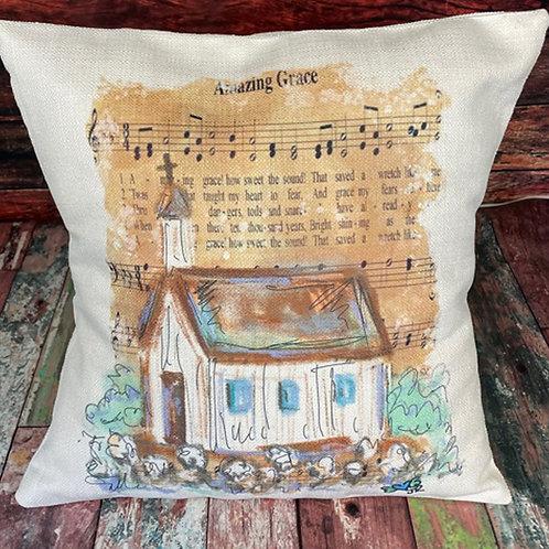 Amazing Grace church pillow