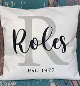 Custom family/monogram pillow