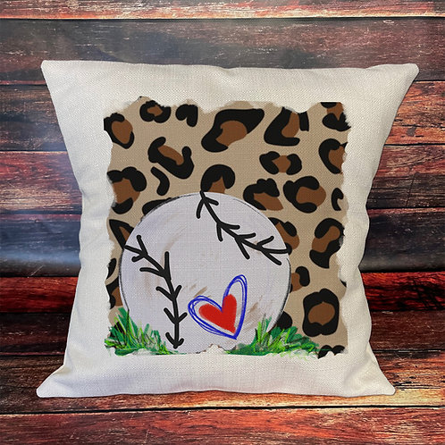 Softball cheetah pillow
