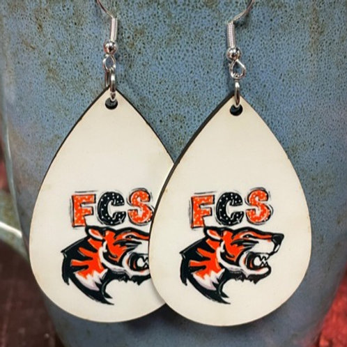 FCS oval earring pair