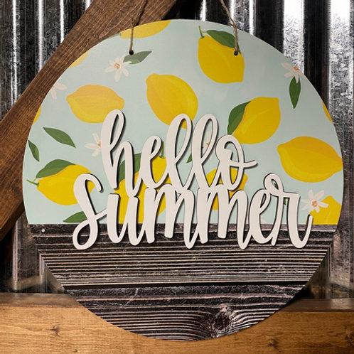 hello summer doorhanger