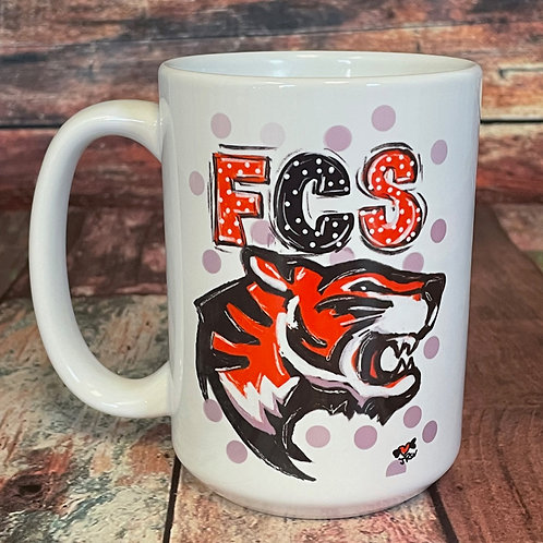 FCS Tigers double-sided 15oz ceramic mug