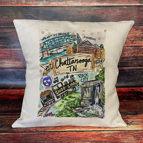 Chattanooga 16x16 pillow