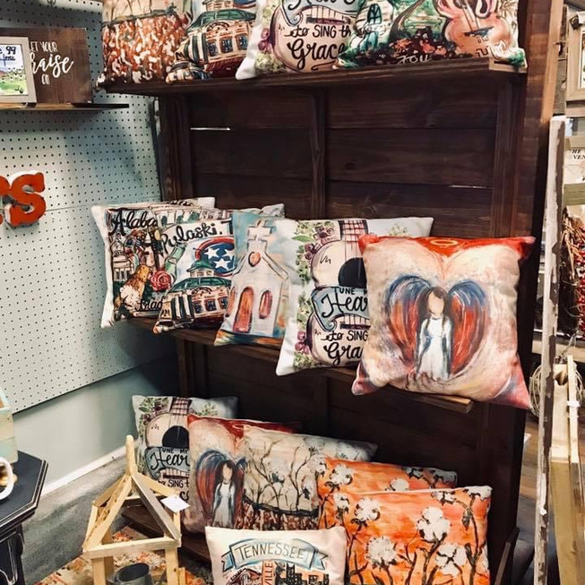Pillow Display,They Call Me The Pillow Lady!