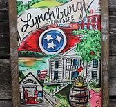 "Lynchburg 18""x24"" framed picture"