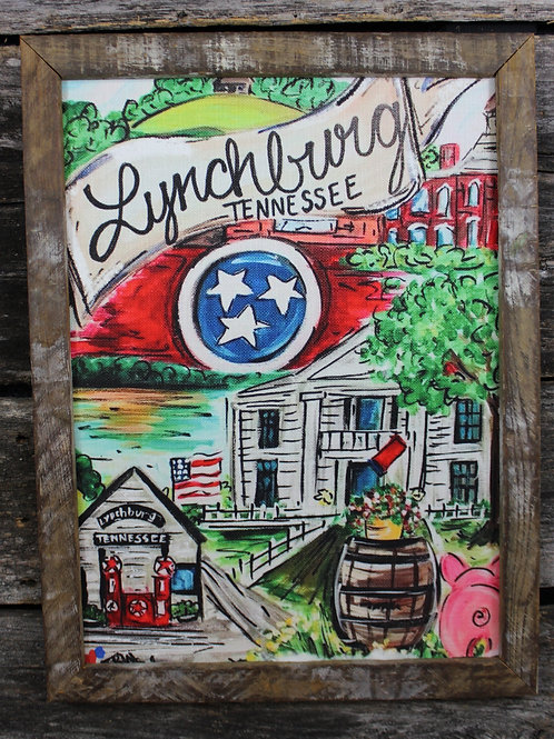 "Lynchburg 18""x24"" framed picture"