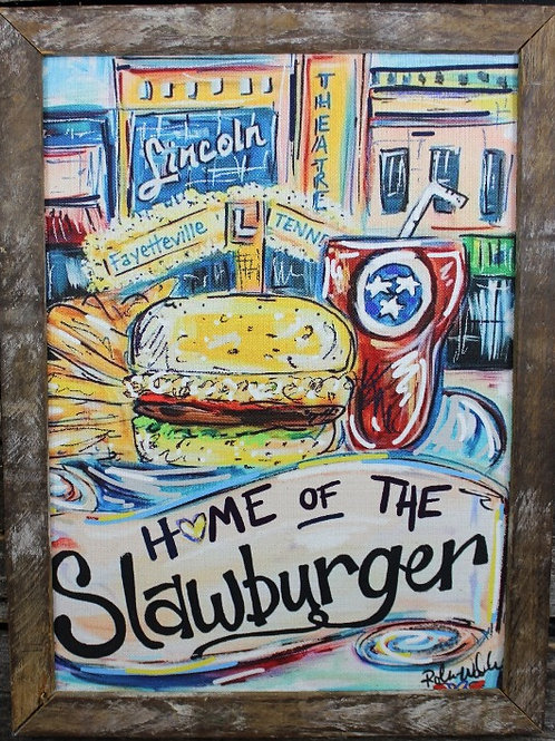 """Home of the Slawburger 18""""x24"""" framed picture"""