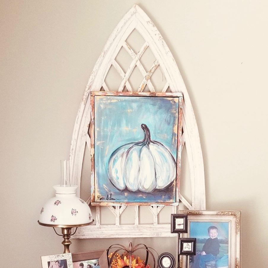 Blue Pumpkin on Arch