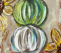Pumpkin Trio Painting