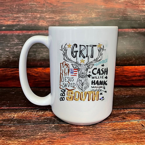 Grit double-sided 15oz ceramic mug