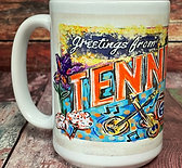 Greetings from Fayetteville wraparound 15oz ceramic mug