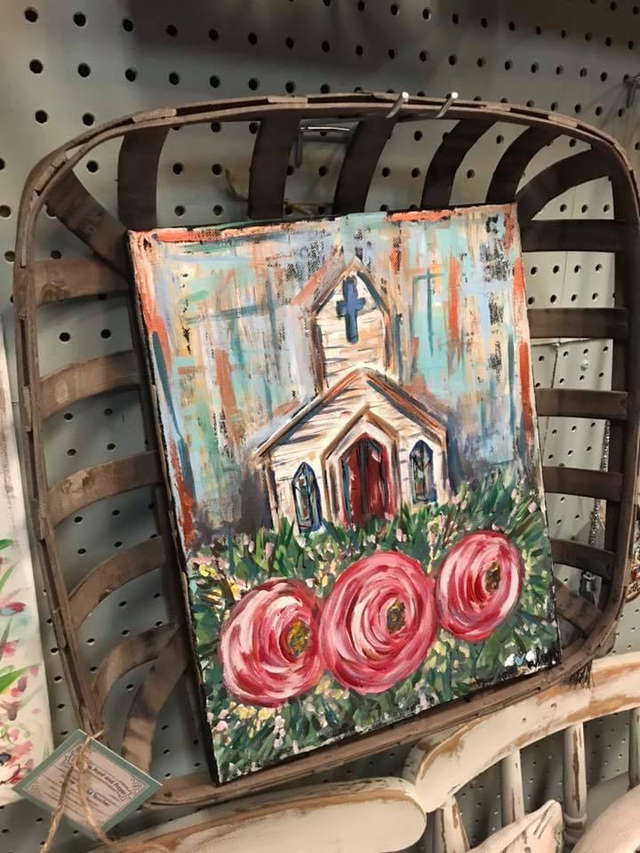 Church and Flower Trio