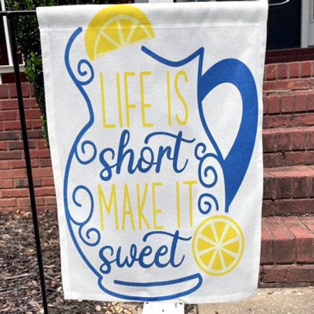 Life is Short lemonade pitcher