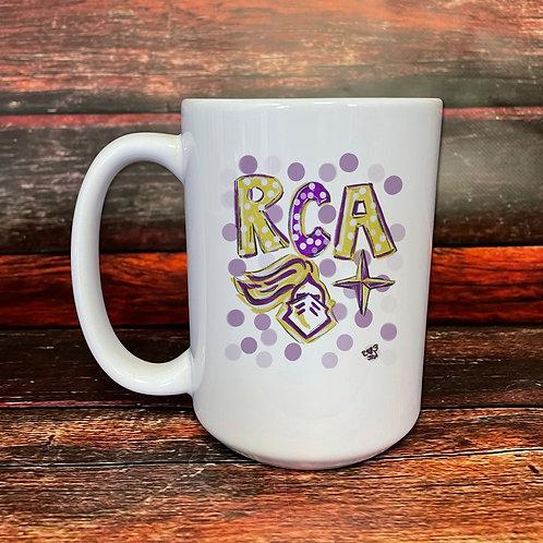 RCA double-sided 15oz ceramic mug