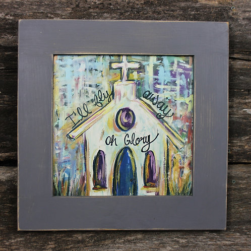 """I'll Fly Away 15""""x15"""" framed picture"""