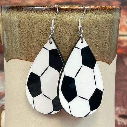 soccer earring pair