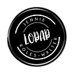 LOPAP logo black white text small 1inch.