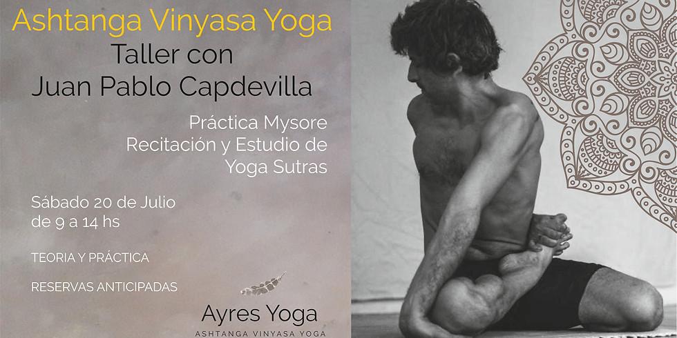 Taller de Ashtanga Vinyasa Yoga, por Juan Pablo Capdevilla