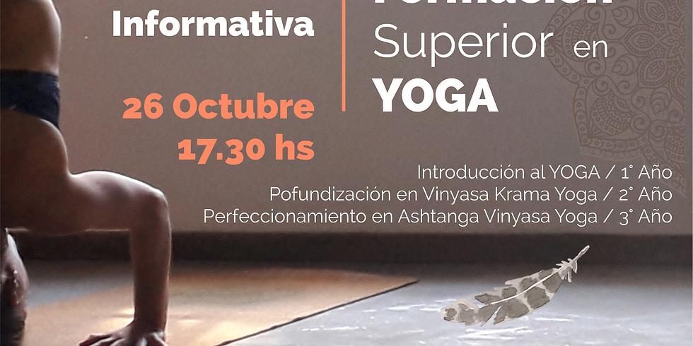 Formación Superior en Yoga.  Charla Informativa