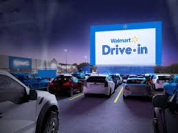 Walmart is transforming its parking lots into drive-in theater.
