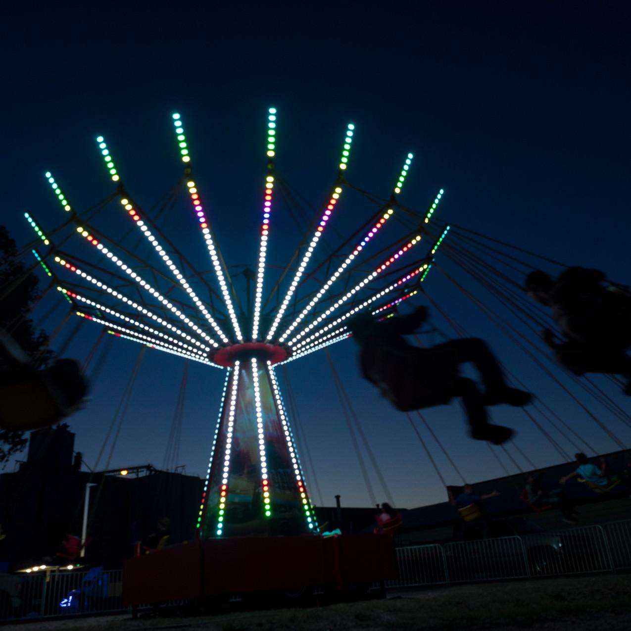 Swings at night