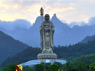 Mt. Jiuhua, one of Chinese Buddhism's Four Sacred Mountains