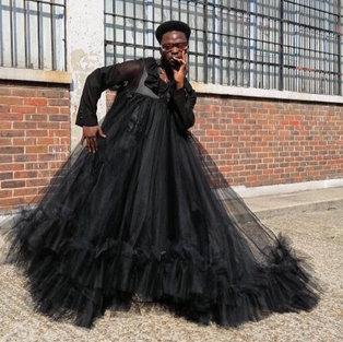 Tulle gown for Darkwah Kyei-Darkwah