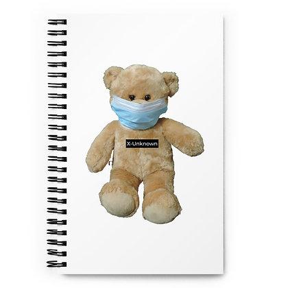 Mask Bear Spiral notebook