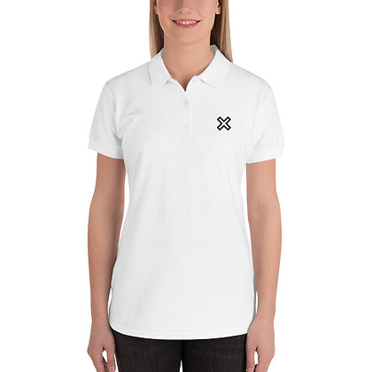 X Unknown Embroidered Women's Polo Shirt