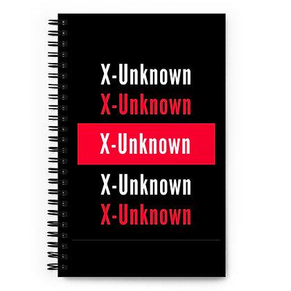 X-Unknown Spiral notebook
