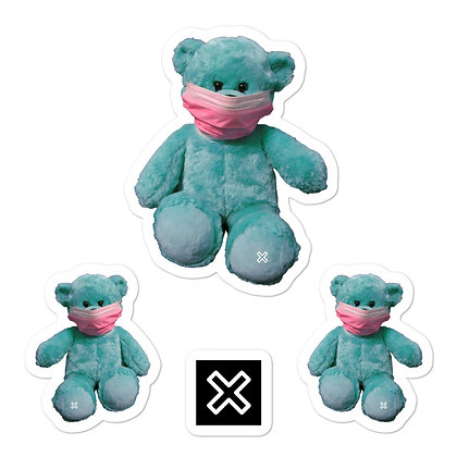 Teddy with Mask sticker set