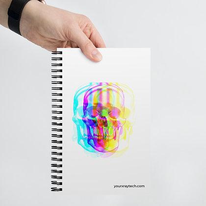 Tie-Dye Skull Spiral notebook
