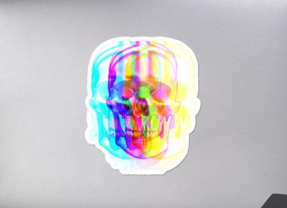 Tie Dye Skull stickers